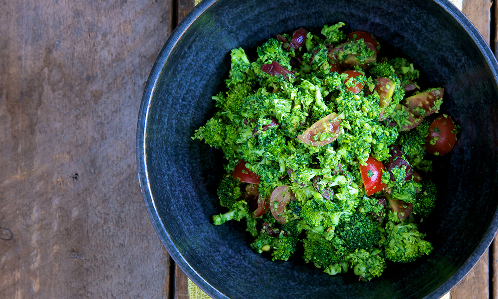 Broccoli Pesto Salad