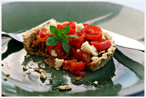 raw food recipe fennel tomato tart