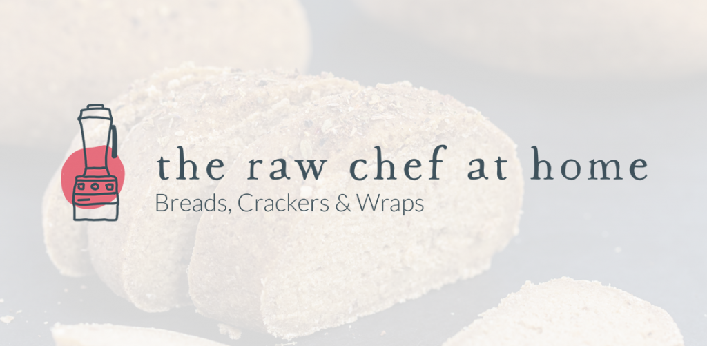 The Raw Chef at Home Breads Crackers Wraps logo