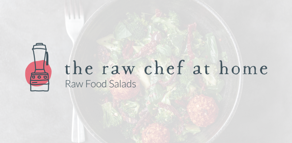 The Raw Chef at Home raw food salads logo