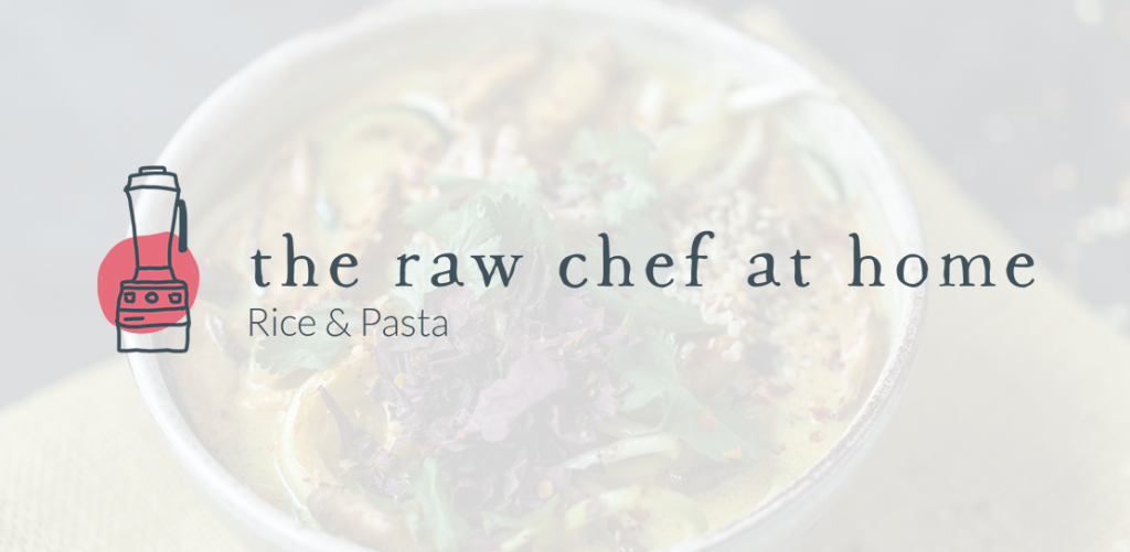 The Raw Chef at Home Rice Pasta logo