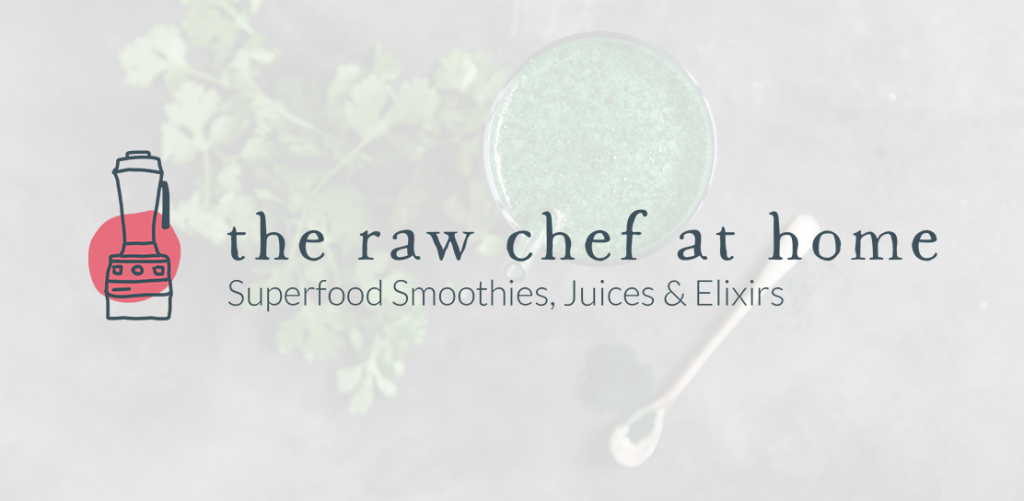 The Raw Chef at Home superfoods and smoothies logo
