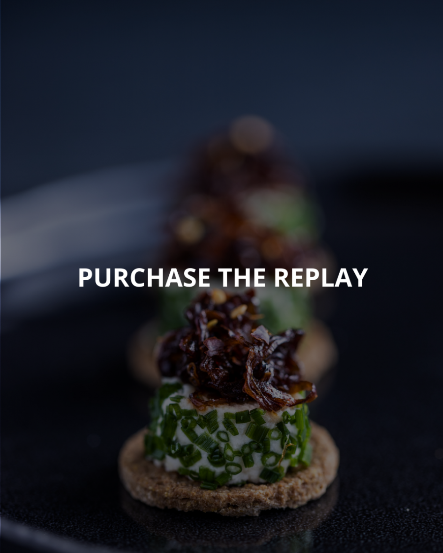 Raw food canapés on a black background